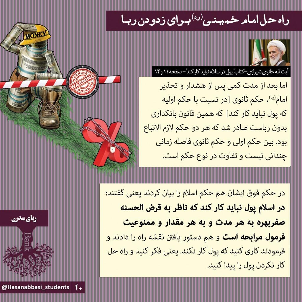 راه حل امام خمینی(ره) برای زدودن ربا(ربای مدرن)