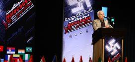 گزارش تصویری؛ سخنرانی استاد حسن عباسی در اختتامیه دومین جشنواره بین المللی کاریکاتور «هولوکاست»